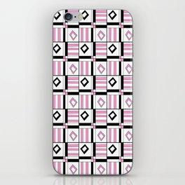symetric tartan and gingham 3 -vichy, gingham,strip,square,geometric, sober,tartan iPhone Skin