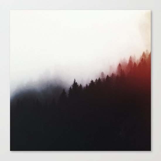 Watercolor woods Canvas Print