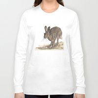 hare Long Sleeve T-shirts featuring Hare II by Meredith Mackworth-Praed