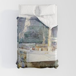 Frederick Childe Hassam - Drydock, Gloucester - Digital Remastered Edition Comforters