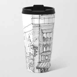 corner ba[K]ery dallas Travel Mug