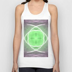 Lilac and Green Unisex Tank Top