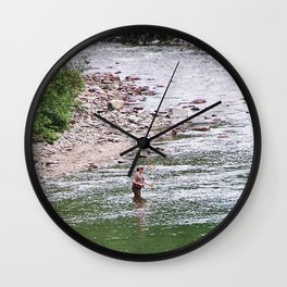 Looking for Salmon Wall Clock