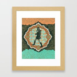 She is Only Smart Enough to Trick You. Framed Art Print