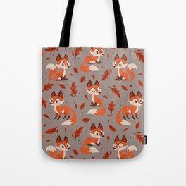 Cute Foxes Tote Bag