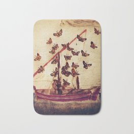 BUTTERFLY MIGRATION (antique) Bath Mat