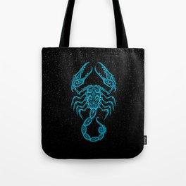 Blue Scorpio Zodiac Sign in the Stars Tote Bag