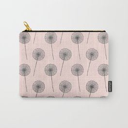 Contemporary X Paint Flower Dandelion Pattern Carry-All Pouch