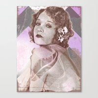 Betty Compson Eyes Canvas Print