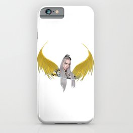 Billie Eilish Artwork With Wings iPhone Case