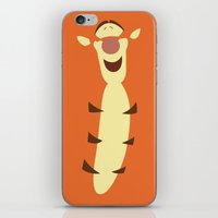 pooh iPhone & iPod Skins featuring Winnie the Pooh - Tigger by TracingHorses