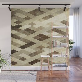 Abstract Pattern in Brown Wall Mural