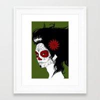 calavera Framed Art Prints featuring Calavera by Griboedova Nat
