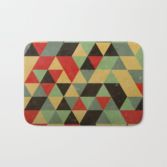 Retro Pattern Bath Mat