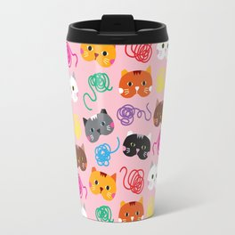 Cats Love String I Travel Mug