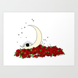 wake up & bloom Art Print