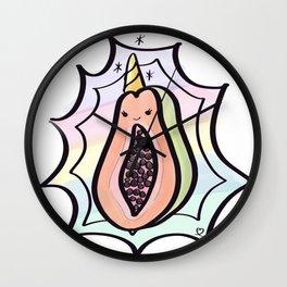 Papaya Power! Wall Clock