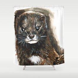 European Mink Shower Curtain