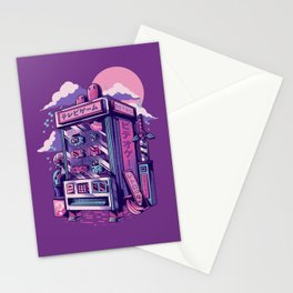 Retro gaming machine Stationery Cards