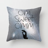 om Throw Pillows featuring OM by Surya