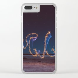 Fireworks at salar Clear iPhone Case