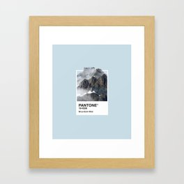 Pantone Series – Mountain Mist Framed Art Print