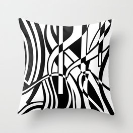 smoothed confusion Throw Pillow