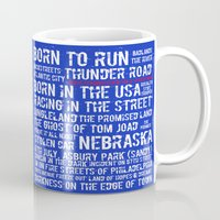 springsteen Mugs featuring Springsteen Top 25 Songs by Rising Trout Design