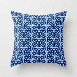 Cyan Curves Sharp Edges Radial Design Latticed Lines Spirit Organic Throw Pillow
