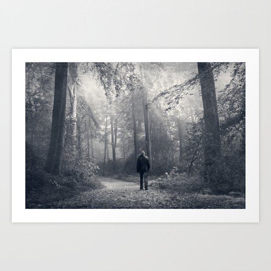 in the forest of light Art Print