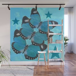 Butterflies and Stars Wall Mural