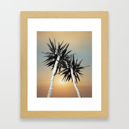Cali Summer Vibes Palm Trees #1 #tropical #decor #art #society6 Framed Art Print