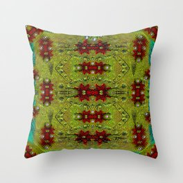 Shield of spice pop art and pattern Throw Pillow
