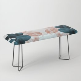 Blush & Blue Leaves Bench
