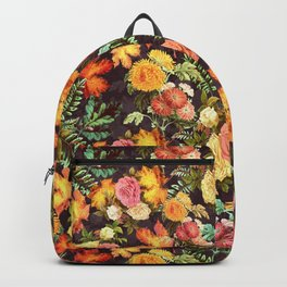 Autumn Flowers and Leaves Backpack
