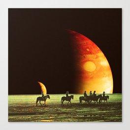 Horse ride Canvas Print