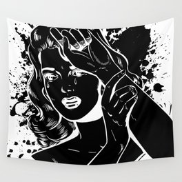 Crying Comic Book Damsel in Distress Wall Tapestry