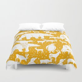 Polar gathering (orange juice) Duvet Cover