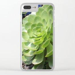 Suculenta II Clear iPhone Case
