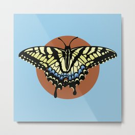Swallowtail Tiger Butterfly V2 Metal Print