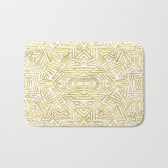 Radiate - Gold Bath Mat