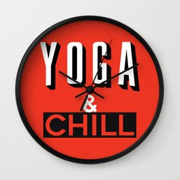 Yoga & Chill Wall Clock
