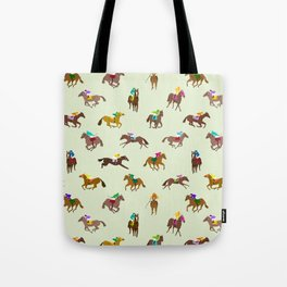 Off to the Horse Races (Mint) Tote Bag