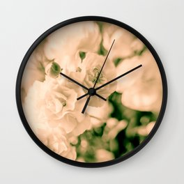Romance and Ruffles beautiful flowers Wall Clock