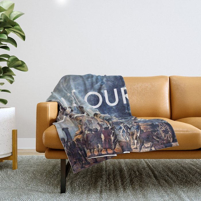 Glory of Storming the Bastille Throw Blanket