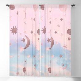 Pastel Starry Sky Moon Dream #2 #decor #art #society6 Blackout Curtain