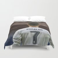 ronaldo Duvet Covers featuring CR7 no7 by Cr7izbest