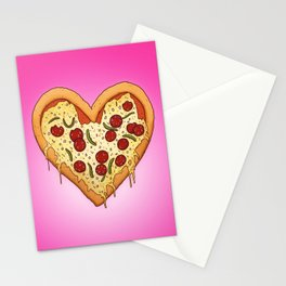 Pizza Heart Stationery Cards