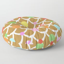 Gingerbread House Roof Floor Pillow