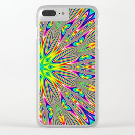 Psychedelic Rainbow Kaleidoscope Clear iPhone Case